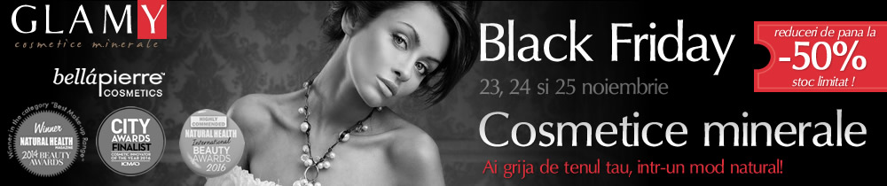 Black Friday Glamy - reduceri mari la cosmeticele minerale Bellapierre
